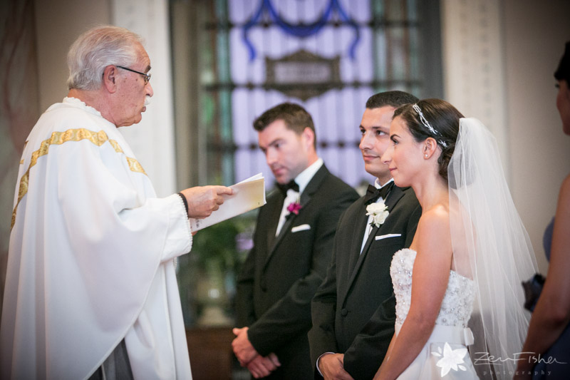 The State Room Boston Wedding, Sacred Heart Church Boston, Wedding Ceremony, Bride and groom