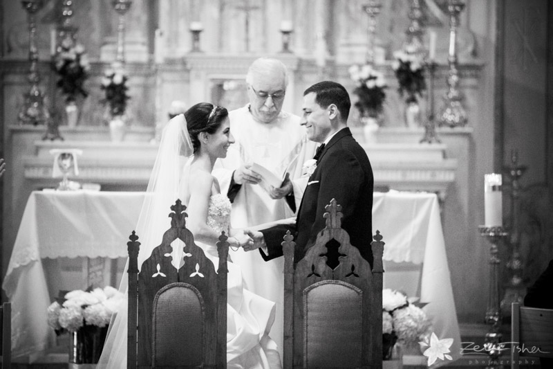 The State Room Boston Wedding, Sacred Heart Church Boston, Wedding Ceremony, Bride & Groom