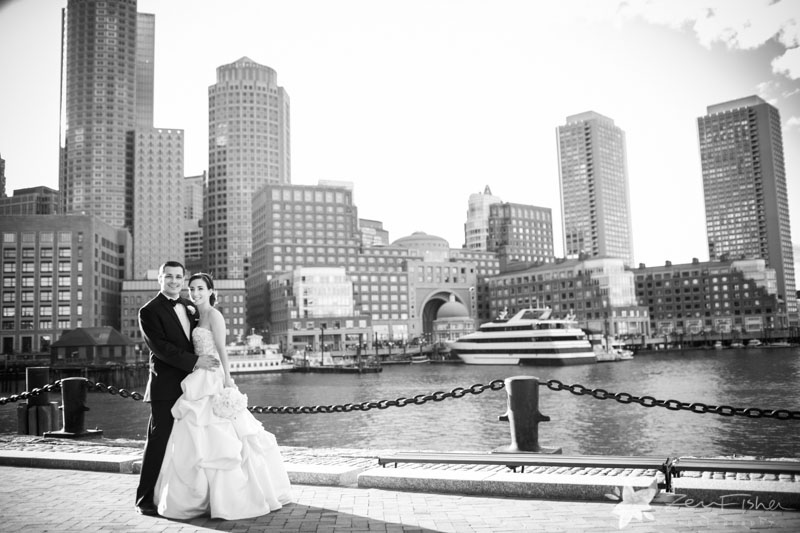 The State Room Boston Wedding, Bride & Groom, Romantic Wedding Portrait, Boston Bridal
