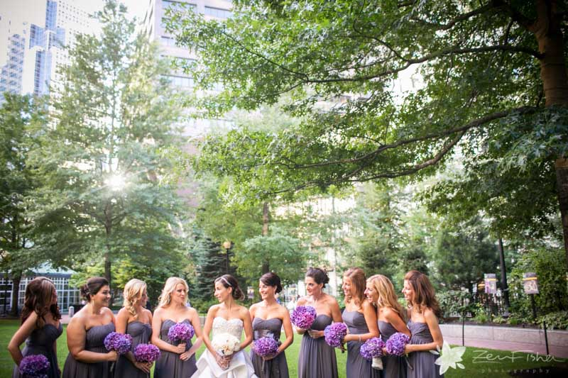 The State Room Boston Wedding, Bride, Bridesmaids, bridal party, Wedding Portrait, Boston Bridal