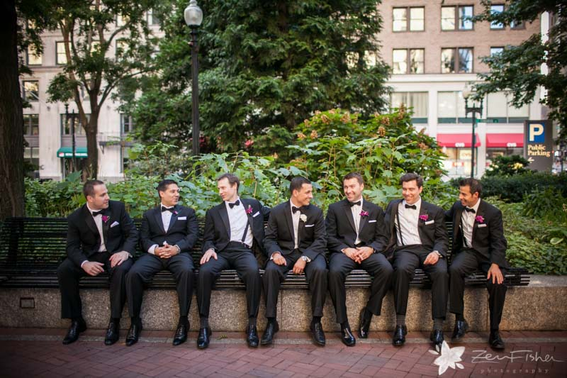 The State Room Boston Wedding, Groom, Groomsmen, bridal party, Wedding Portrait, Boston Bridal