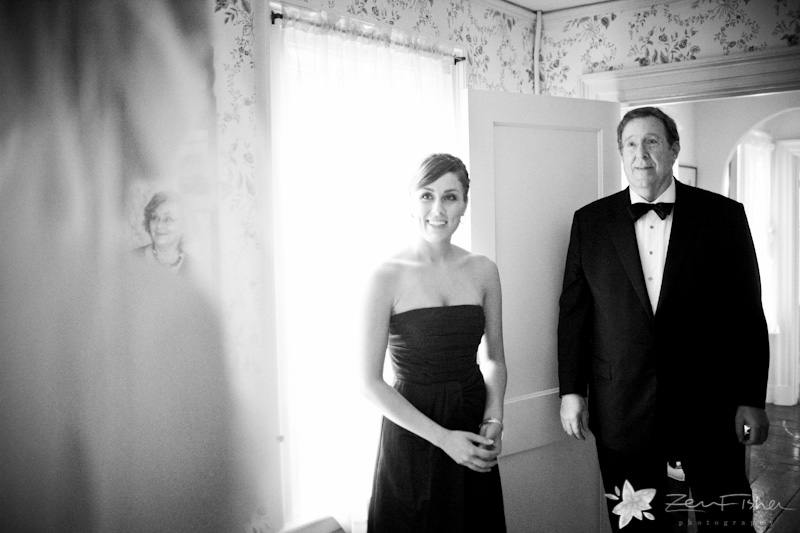 Tyrone Farm Wedding, Bridesmaid, Father of the Bride, Black and White Wedding Photography