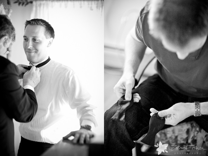 Tyrone Farm, Groom Getting Ready, Groomsmen, Grooms Attire, Black and White Wedding Photography
