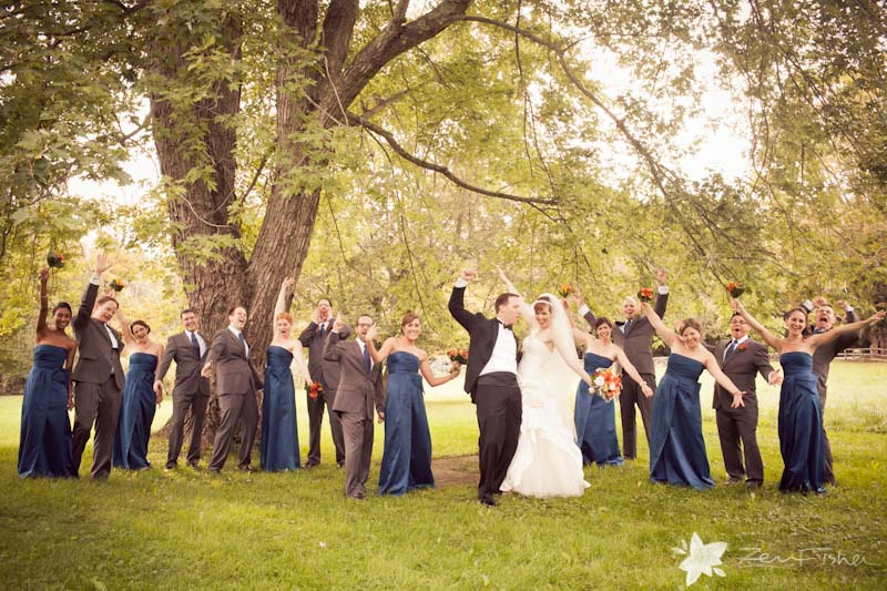 Tyrone Farm Wedding, Bridesmaids, Groomsmen, Bridal Party, Wedding Portrait, Connecticut Wedding