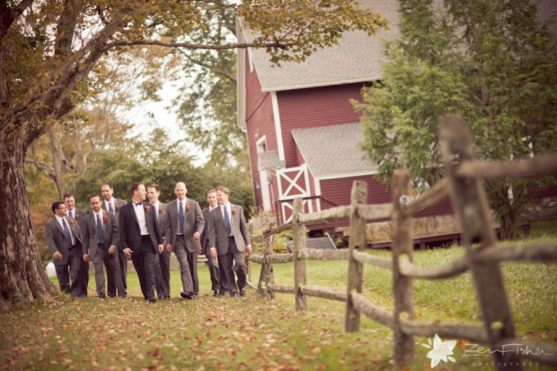 Tyrone Farm Wedding, Groom, Groomsmen, Bridal Party, Wedding Portrait, Connecticut Wedding