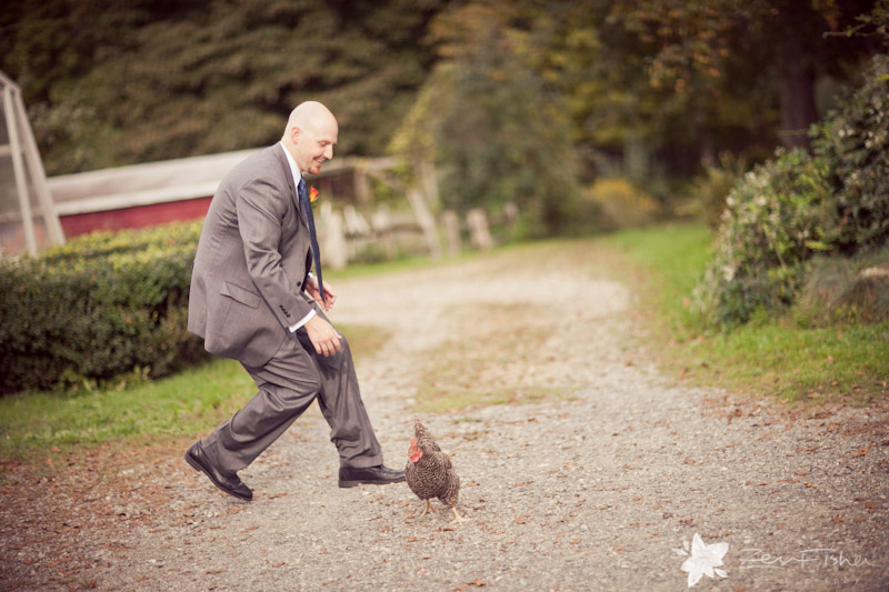 Tyrone Farm Wedding, Groomsman, Bridal Party, Wedding Portrait, wedding chicken