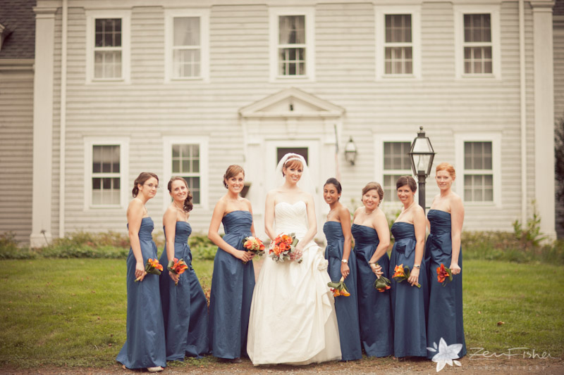 Tyrone Farm Wedding, Bride, Bridesmaids, Bridal Party, Wedding Portrait, Connecticut Wedding