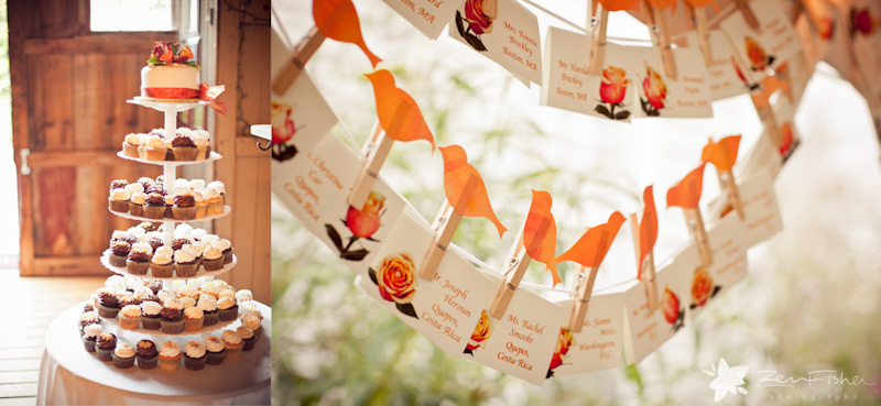 Tyrone Farm Wedding, Wedding Reception details, Wedding cupcakes, Wedding place card holders