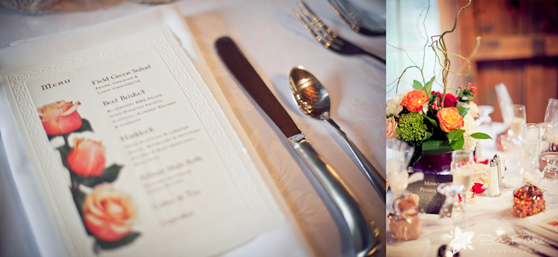Tyrone Farm Wedding, Wedding Reception Details, Wedding Menu, Wedding Tablescape, Wedding Flowers