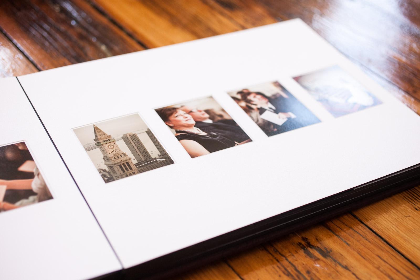 boston matte wedding album designer zev fisher creates custom