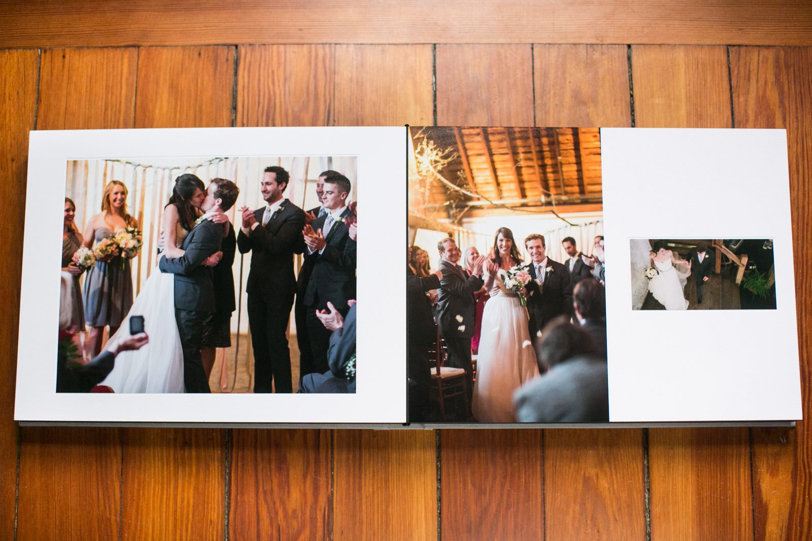 Boston matte wedding album designer Zev Fisher creates custom