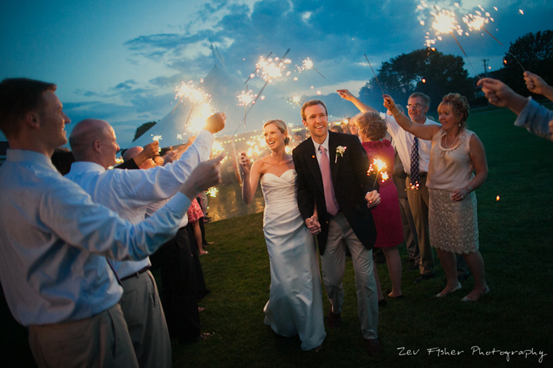 wentworth country club wedding, bride and groom, romantic sendoff, wedding sparklers, sunset wedding